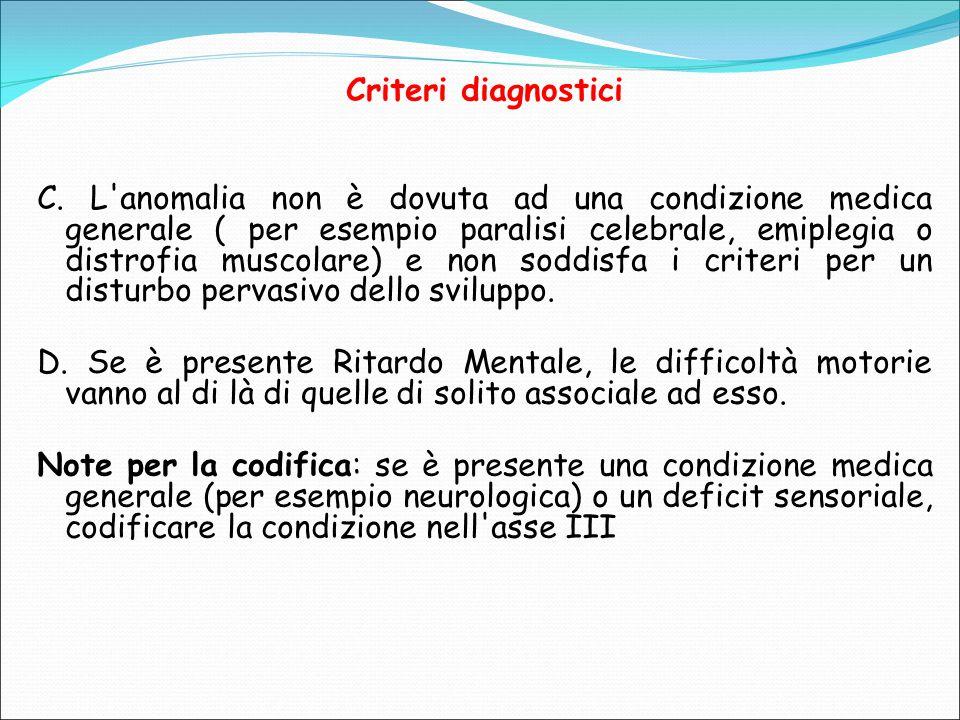 Criteri diagnostici C.