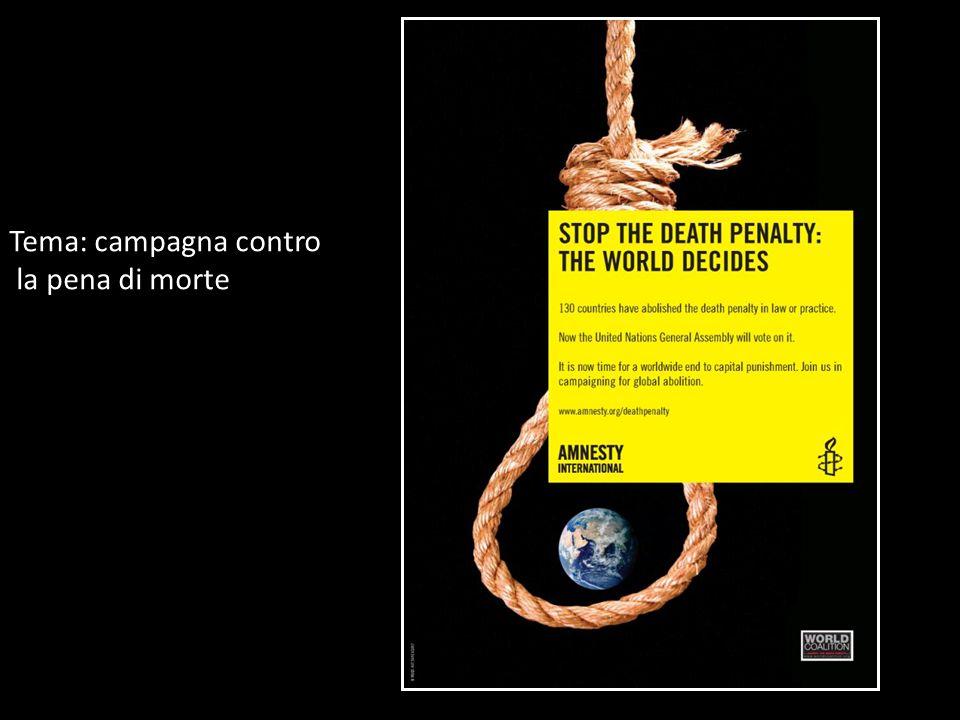 Tema: campagna contro la pena di morte