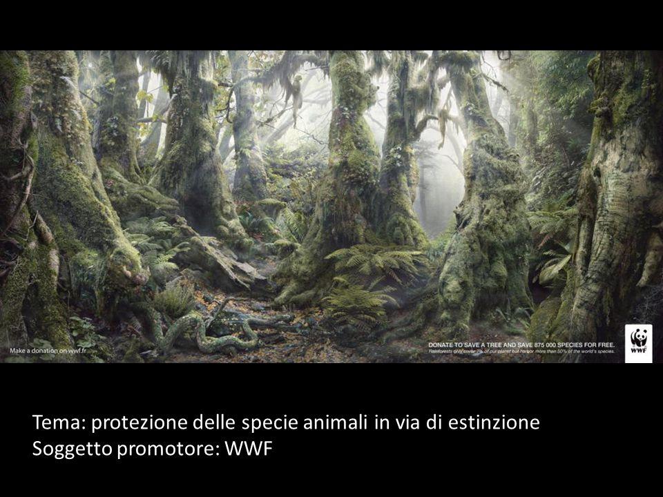 Tema: protezione delle specie animali in via di estinzione Soggetto promotore: WWF