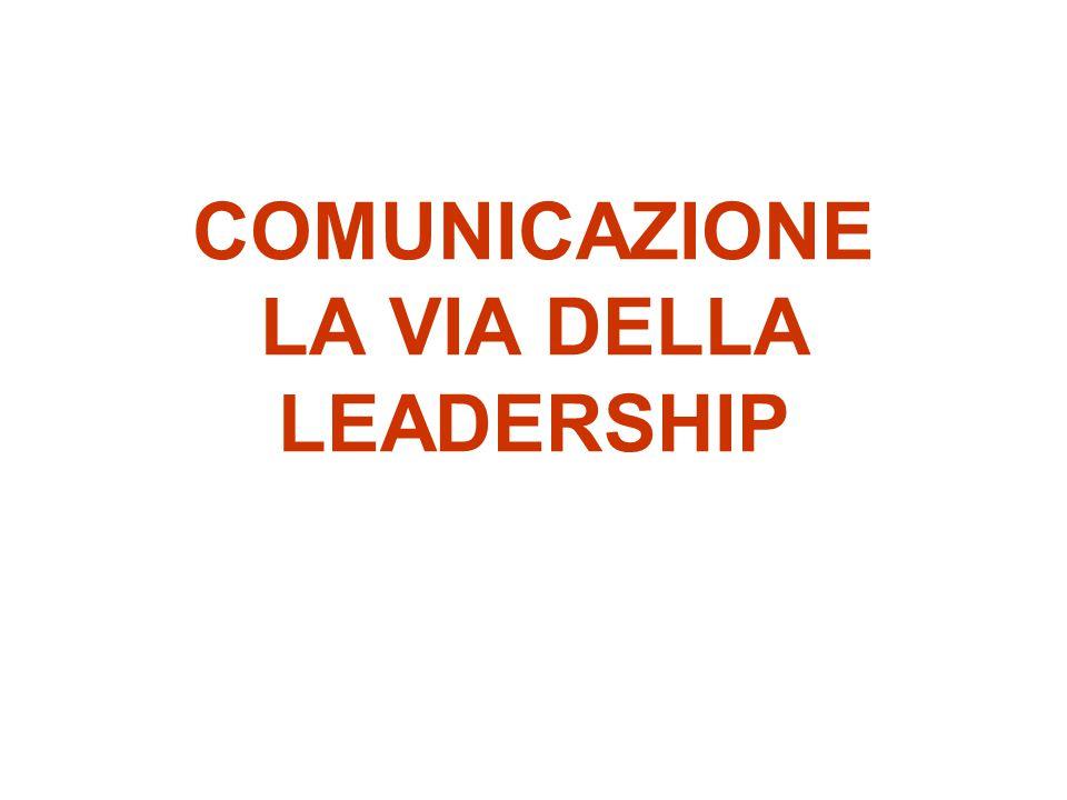 COMUNICAZIONE LA VIA DELLA LEADERSHIP