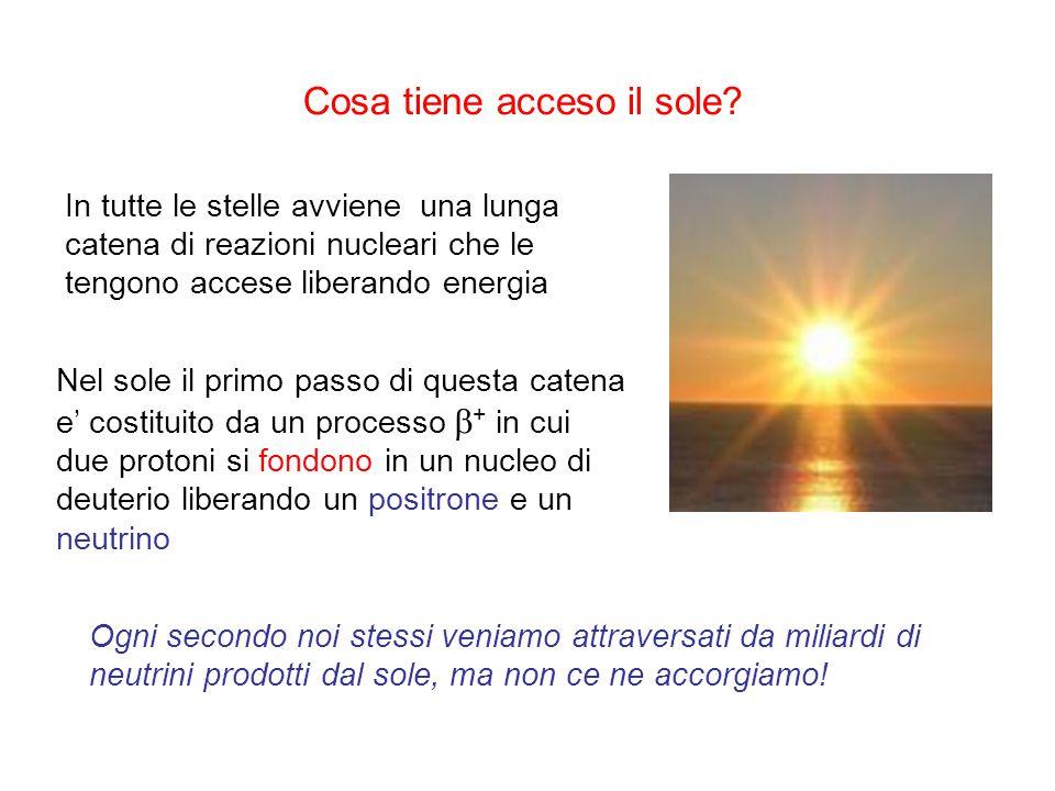 Cosa tiene acceso il sole? In tutte le stelle avviene una lunga catena di reazioni nucleari che le tengono accese liberando energia Nel sole il primo
