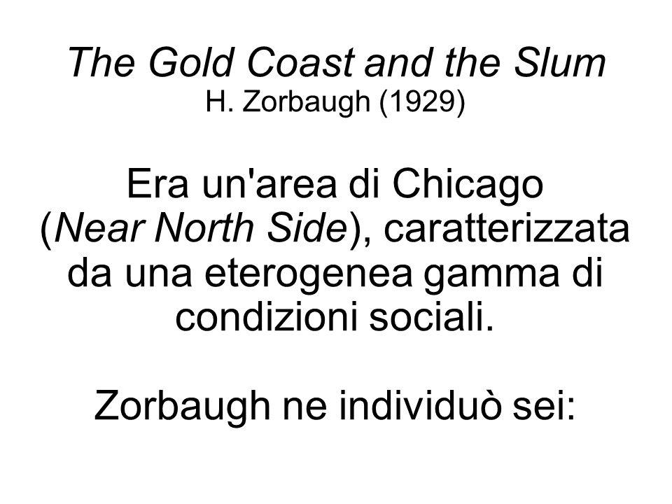 The Gold Coast and the Slum H. Zorbaugh (1929) Era un'area di Chicago (Near North Side), caratterizzata da una eterogenea gamma di condizioni sociali.