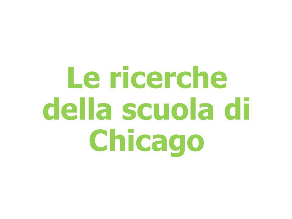 Le ricerche della scuola di Chicago