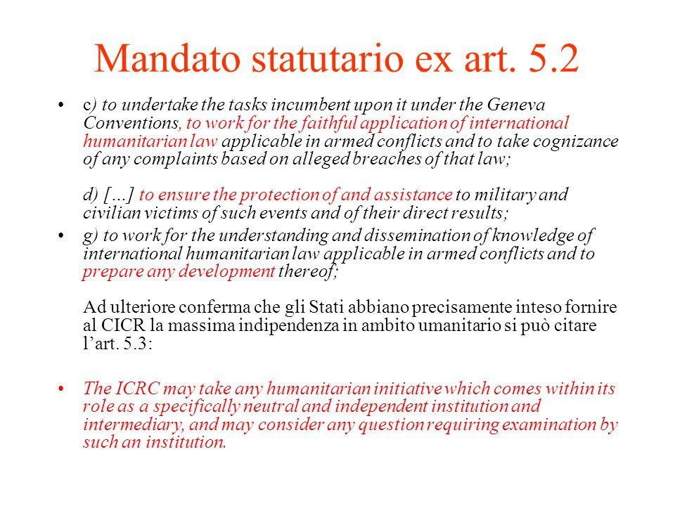 Mandato statutario ex art.