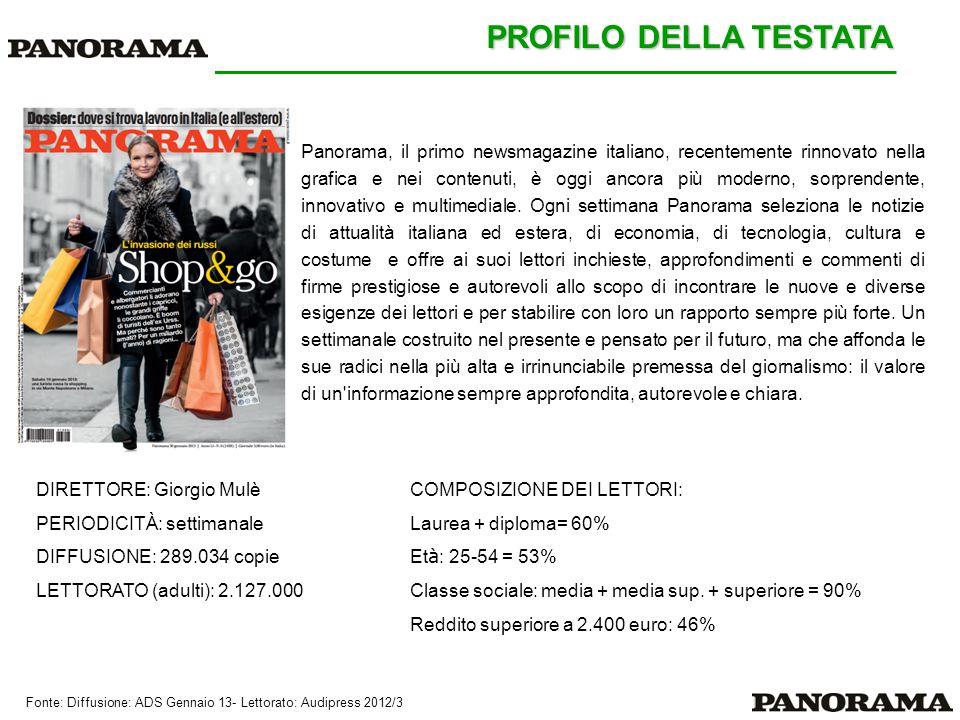 Panorama, il primo newsmagazine italiano, recentemente rinnovato nella grafica e nei contenuti, è oggi ancora più moderno, sorprendente, innovativo e multimediale.