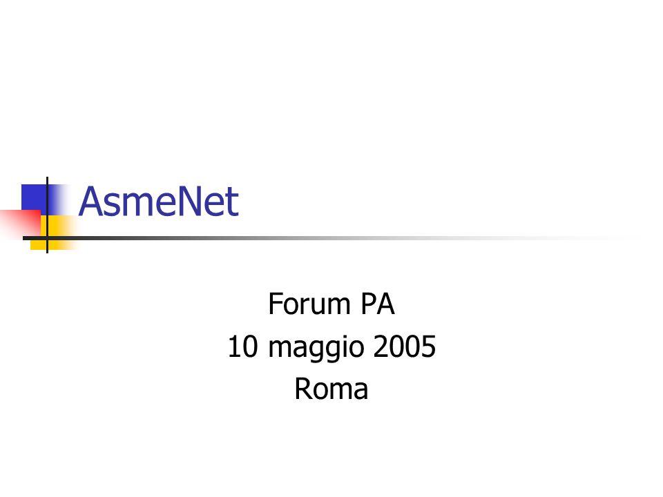 AsmeNet Forum PA 10 maggio 2005 Roma