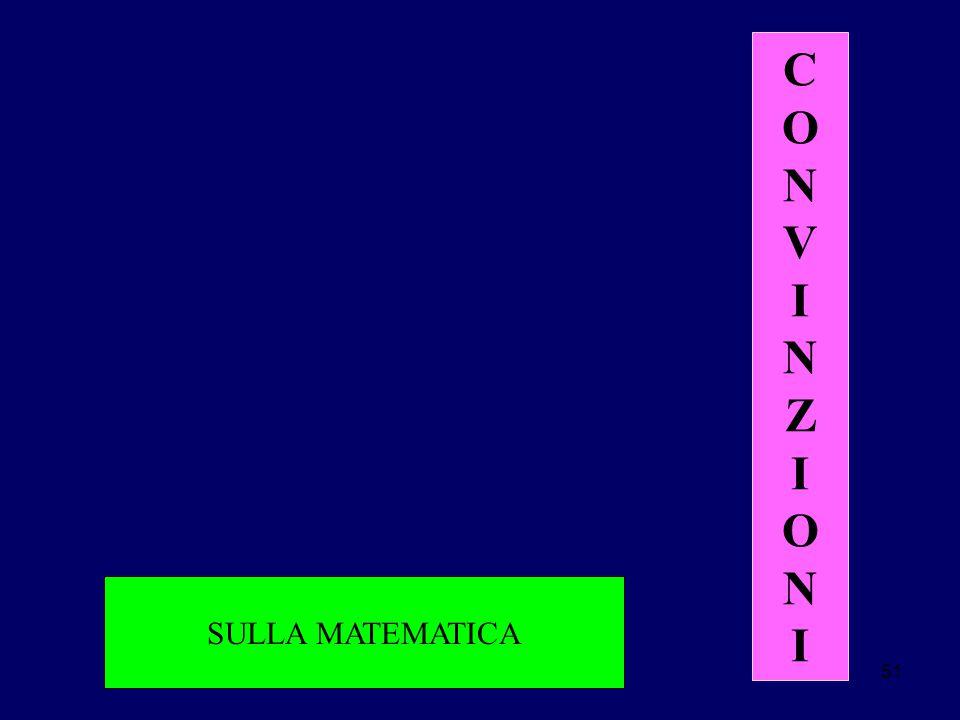 51 SULLA MATEMATICA CONVINZIONICONVINZIONI