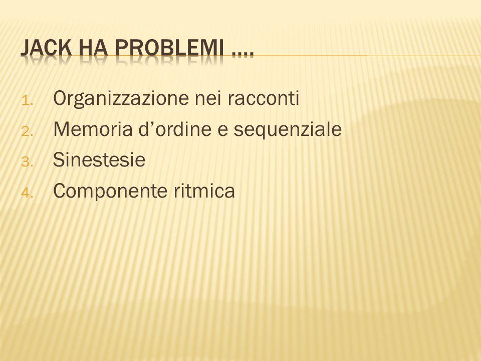 1. Organizzazione nei racconti 2. Memoria d'ordine e sequenziale 3.