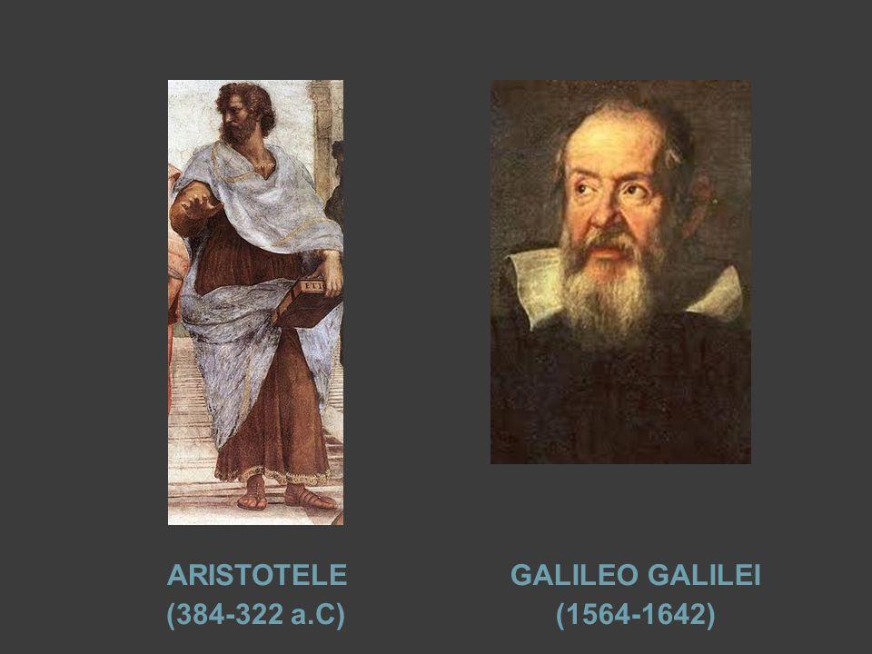 ARISTOTELE (384-322 a.C) GALILEO GALILEI (1564-1642)
