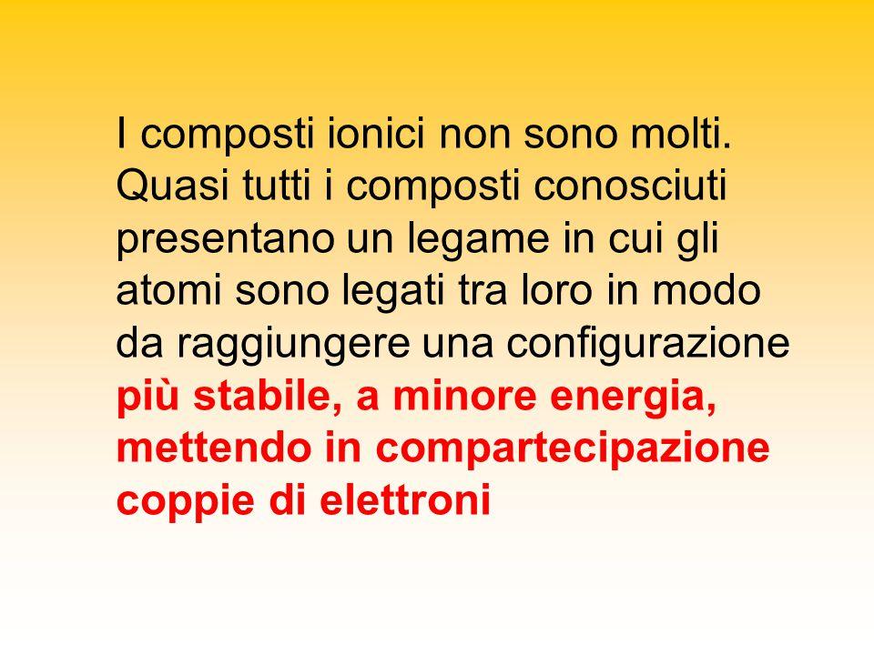 I composti ionici non sono molti.