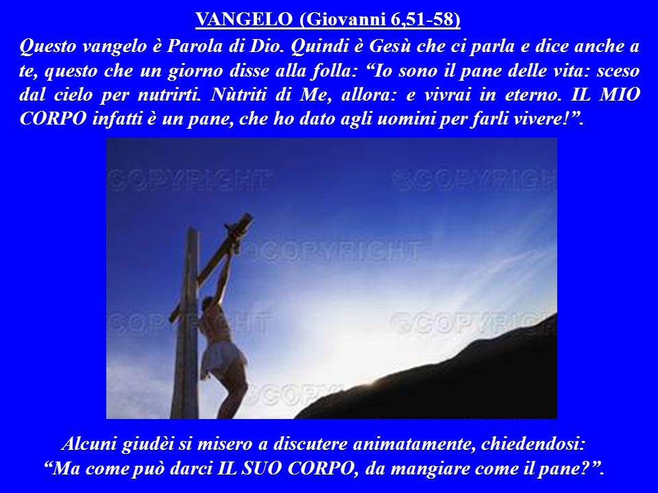SECONDA LETTURA (1^ lettera di Paolo ai cristiani di Corìnto 10,16-17) Questa lettera è Parola di Dio.
