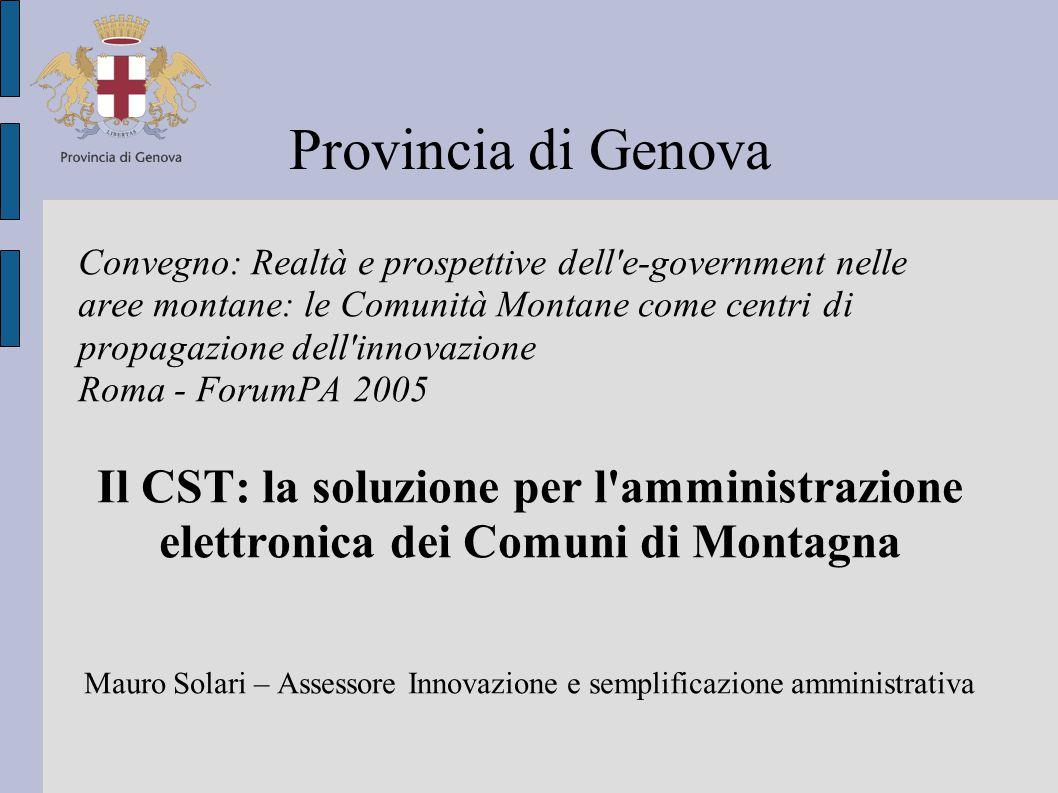Cosa è il CST 1/7 E un Integratore di Sistema che supporta gli Enti aderenti nell'erogazione dei servizi:  al cittadino e alle imprese,  nello sviluppo del territorio  negli adempimenti nei confronti di altri Enti ed Istituzioni.