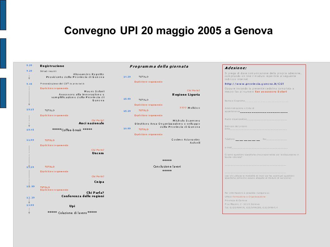 Convegno UPI 20 maggio 2005 a Genova