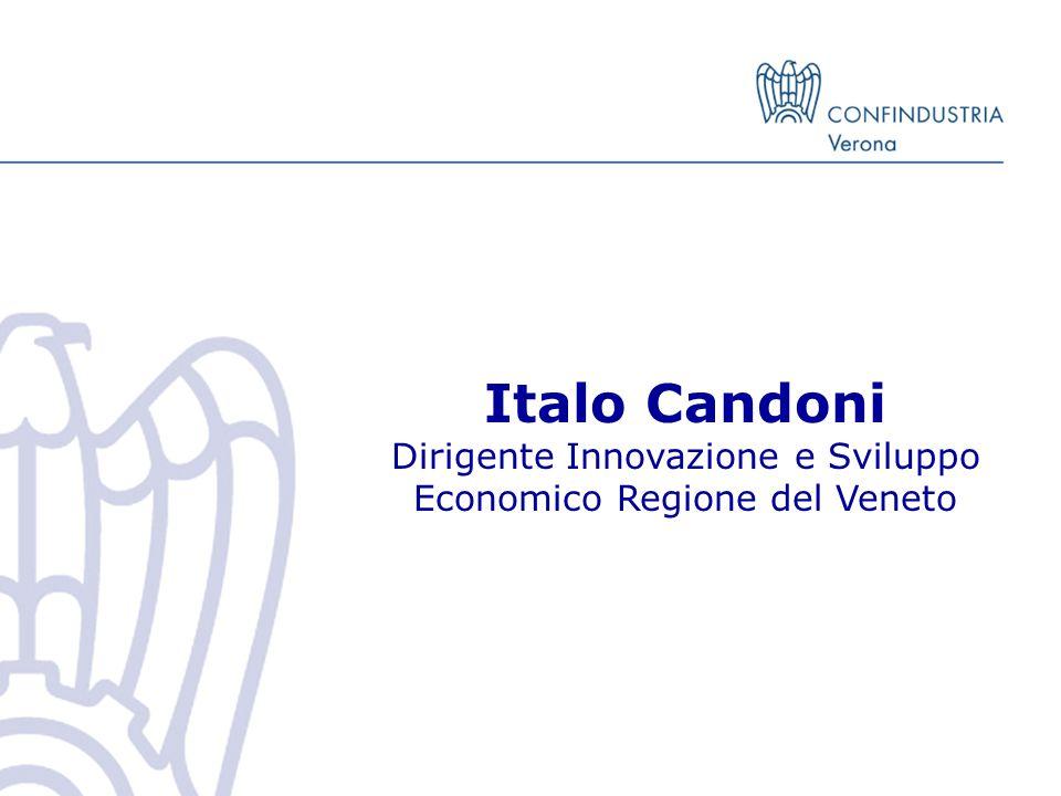 Italo Candoni Dirigente Innovazione e Sviluppo Economico Regione del Veneto