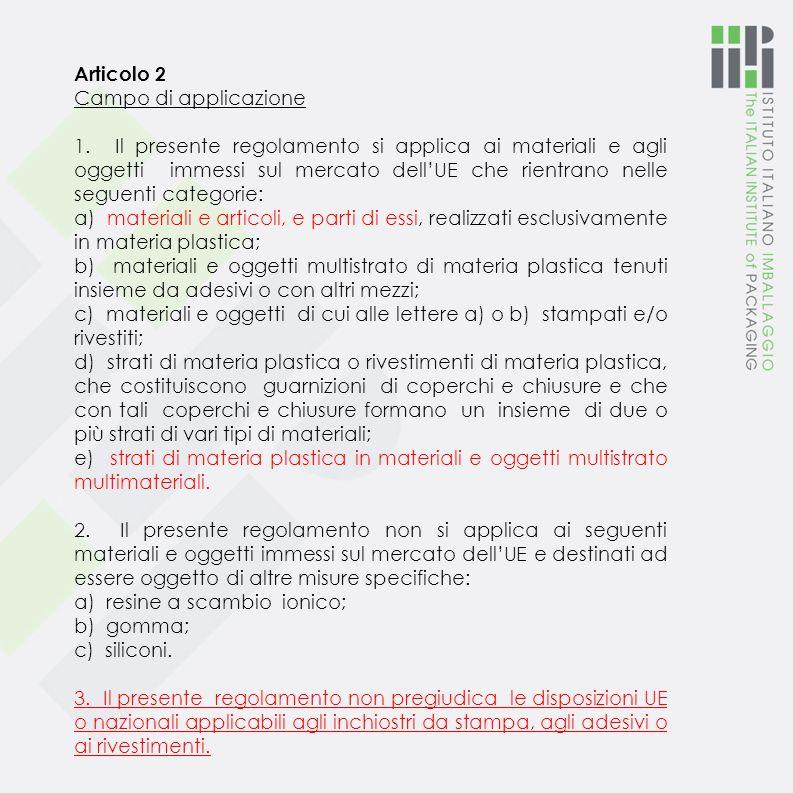 Articolo 2 Campo di applicazione 1.