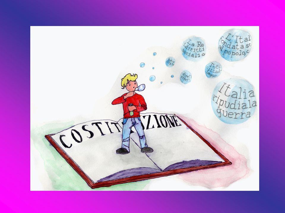 La Costituzione è la legge di tutte le leggi … È la principale fonte di diritto Venne approvata dall'Assemblea Costituente nel 1947 ed entrò in vigore nel 1948
