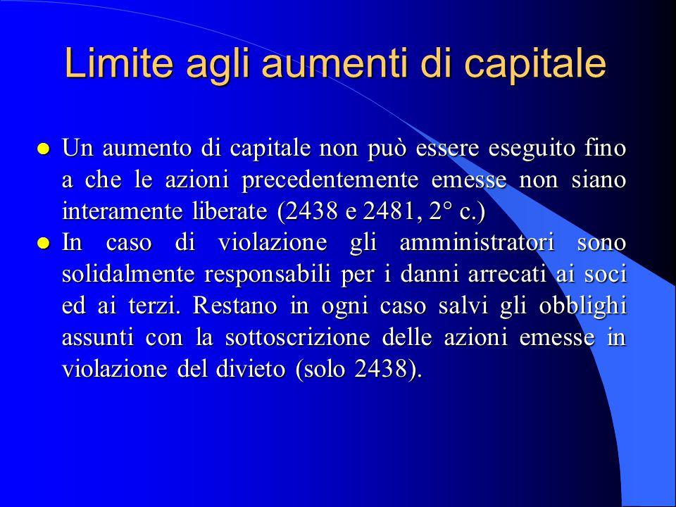Aumento a pagamento l Liberato in denaro: l All atto della sottoscrizione, versare alla società almeno il venticinque per cento del valore nominale delle azioni sottoscritte.