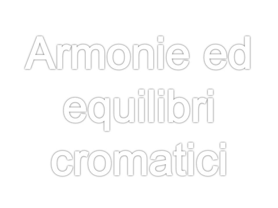 La percezione dell'armonia cromatica,non è soggettiva ma sottoposta a precise leggi fisiche e percettive.