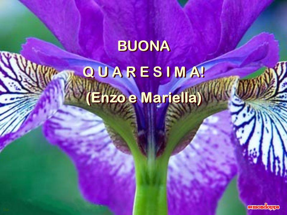 Sue BUONA Q U A R E S I M A! (Enzo e Mariella) BUONA Q U A R E S I M A! (Enzo e Mariella)
