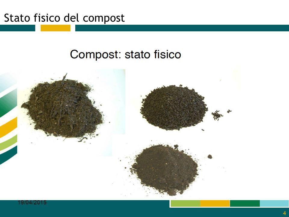 Stato fisico del compost 19/04/2015 4