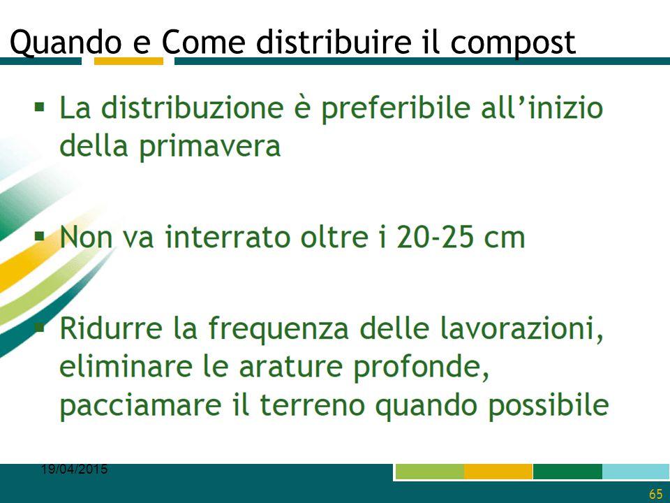 Quando e Come distribuire il compost 19/04/2015 65