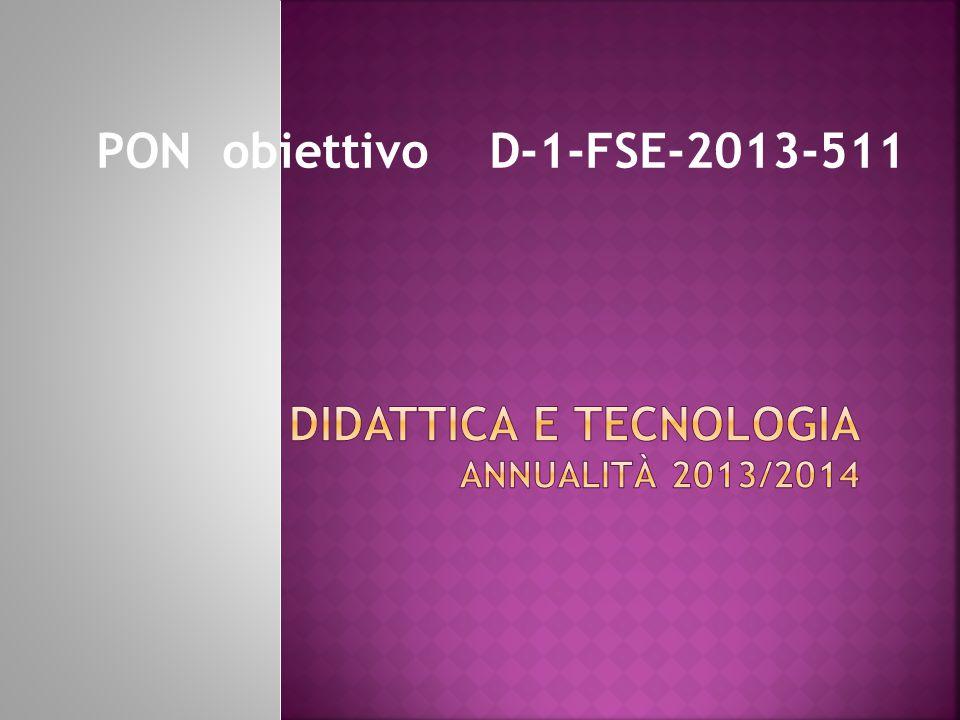 PON obiettivo D-1-FSE-2013-511