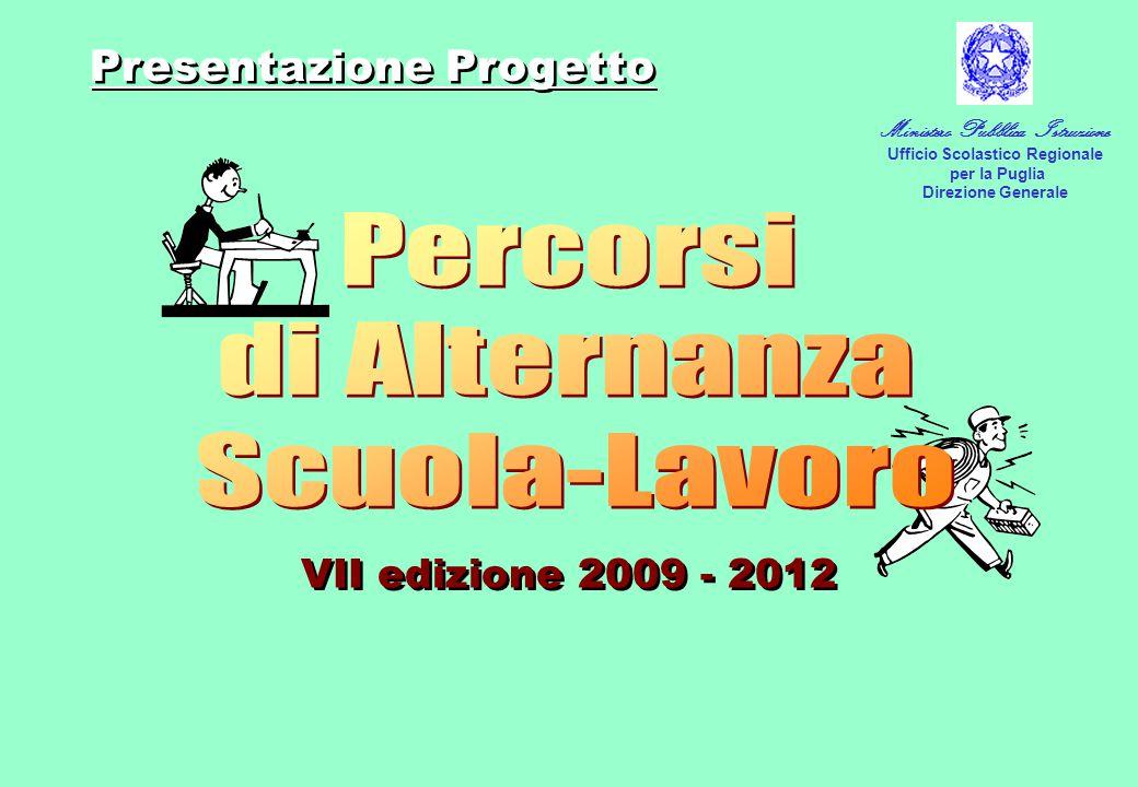 VII edizione 2009 - 2012 Presentazione Progetto Ministero Pubblica Istruzione Ufficio Scolastico Regionale per la Puglia Direzione Generale