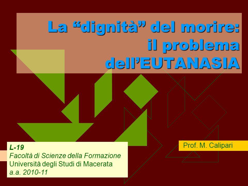 Prof. M. Calipari L-19 Facoltà di Scienze della Formazione Università degli Studi di Macerata a.a.