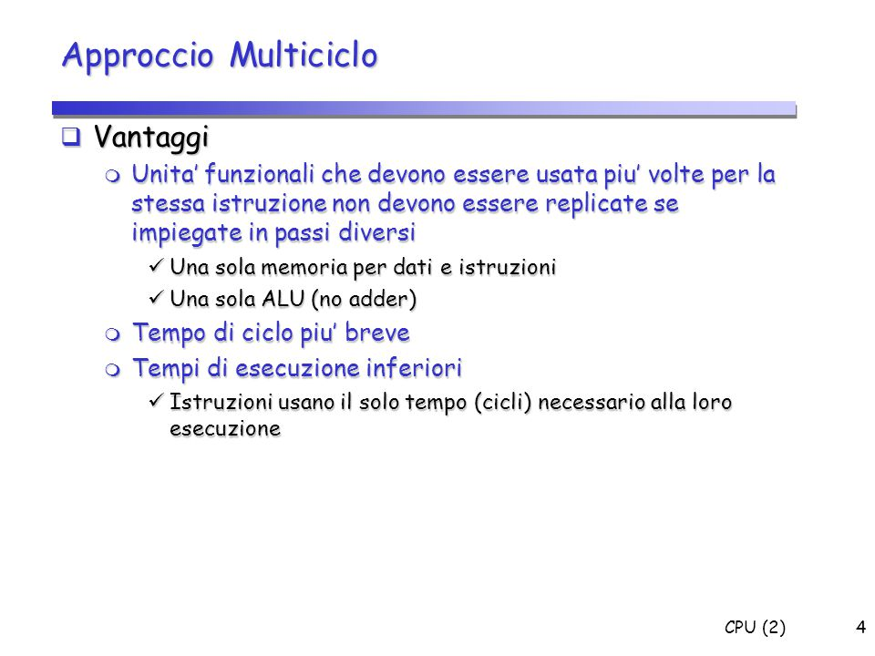 CPU (2)85 Codifica Microistruzioni