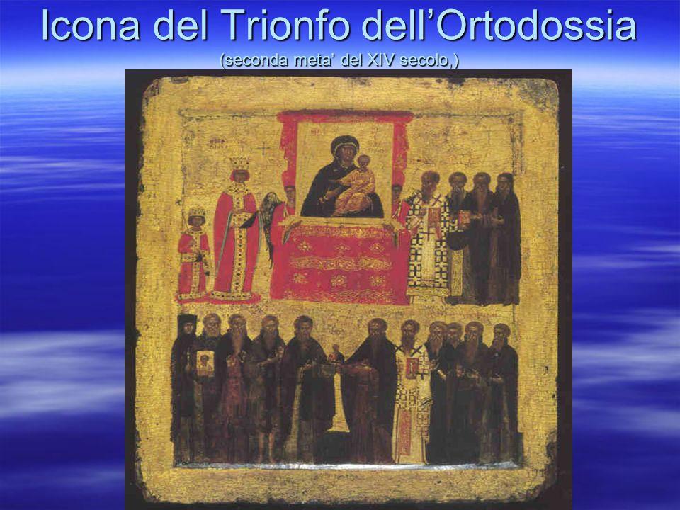 Icona del Trionfo dell'Ortodossia (seconda meta' del XIV secolo,)