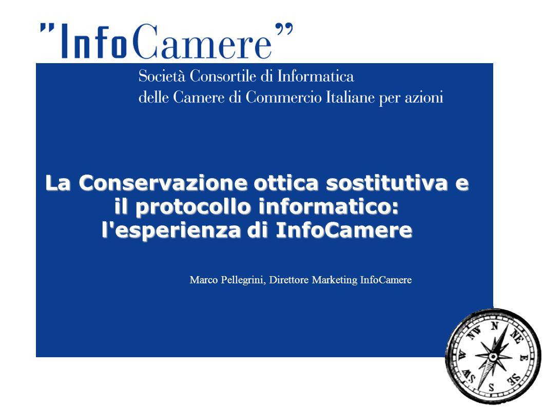La Conservazione ottica sostitutiva e il protocollo informatico: l'esperienza di InfoCamere Marco Pellegrini, Direttore Marketing InfoCamere
