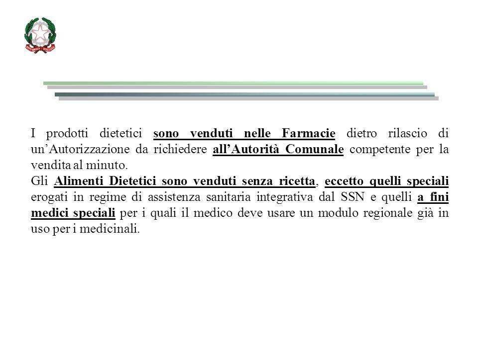 COMMERCIALIZZAZIONE DEI PRODOTTI DELL ALLEGATO 1 DEL DDL 111/92 In Italia, prima dell'emanazione delle norme specifiche in ambito europeo (e conseguente recepimento in ambito italiano) per le categorie di alimenti 1-9 dell'Allegato 1, è stato seguito il regime della autorizzazione preventiva, da richiedere al Ministero della Sanità, in applicazione dell'art.