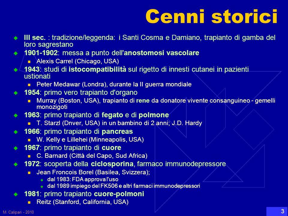 M. Calipari - 2010 34 Un po' di anatomia….