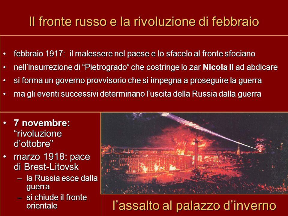 """Il fronte russo e la rivoluzione di febbraio febbraio 1917: il malessere nel paese e lo sfacelo al fronte sfociano nell'insurrezione di """"Pietrogrado"""""""