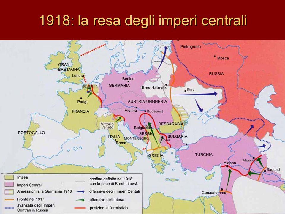 1918: la resa degli imperi centrali