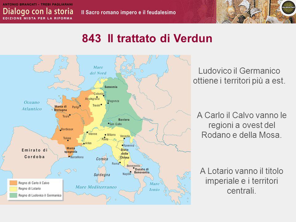 Ludovico il Germanico ottiene i territori più a est.