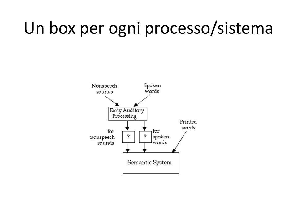 Un box per ogni processo/sistema