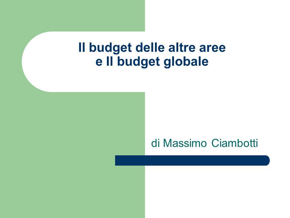Il budget delle altre aree e Il budget globale di Massimo Ciambotti