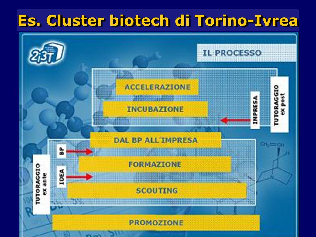 Es. Cluster biotech di Torino-Ivrea