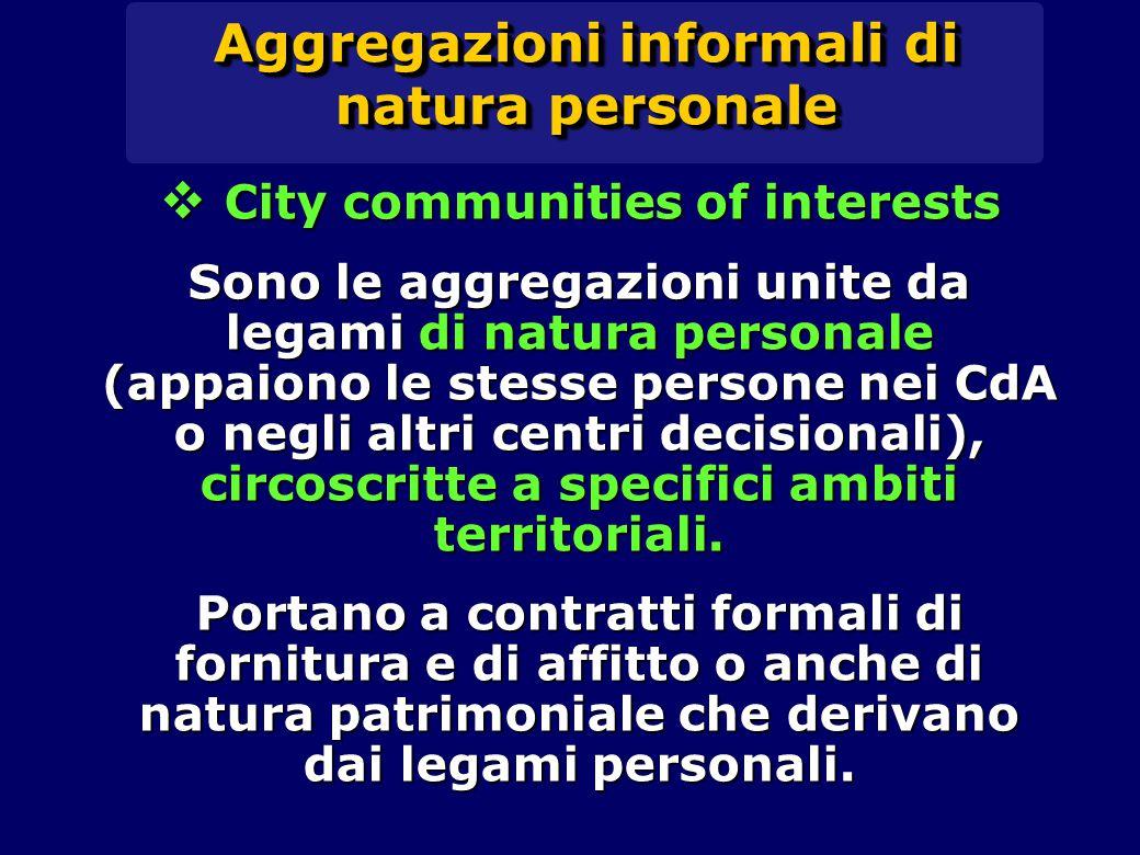 Le specializzazioni dei distretti italiani