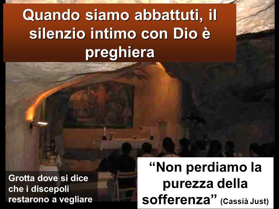 GETSEMANI Giunsero a un podere chiamato Getsèmani, ed egli disse ai suoi discepoli: «Sedetevi qui, mentre io prego».