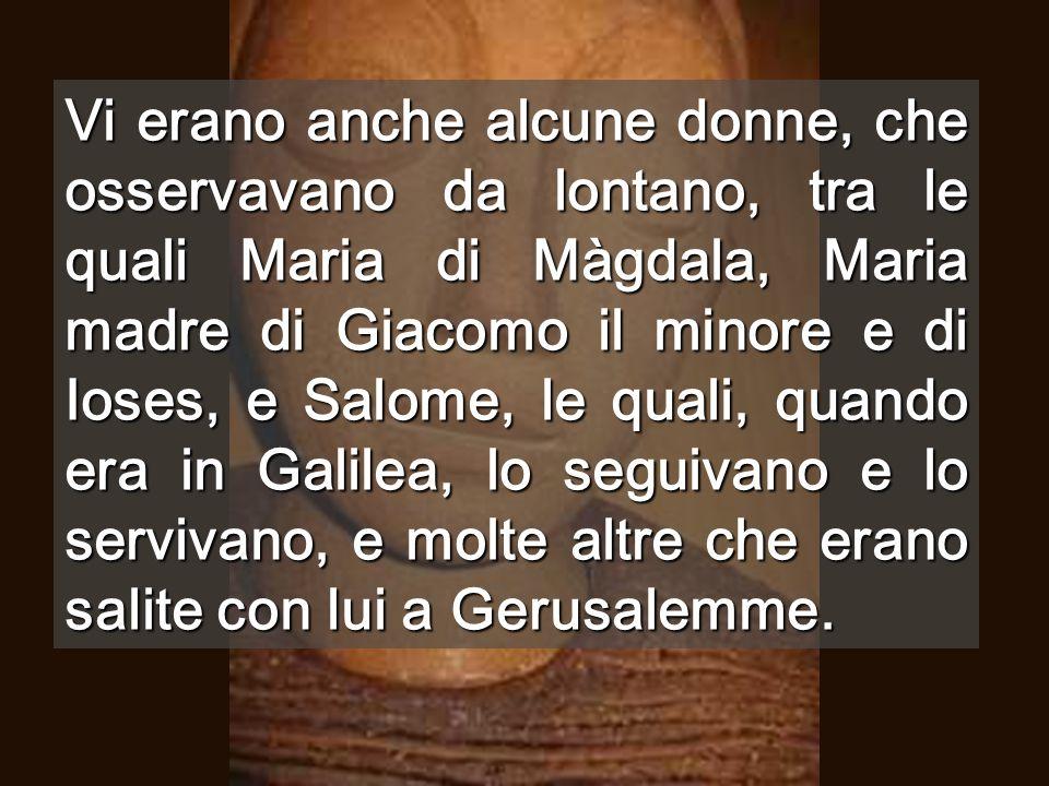 Calvario Finalmente, nel vangelo di Marco, ora, sulla croce sappiamo che è il Figlio di Dio La morte non ha più potere sul suo AMORE (Rom 6,9)