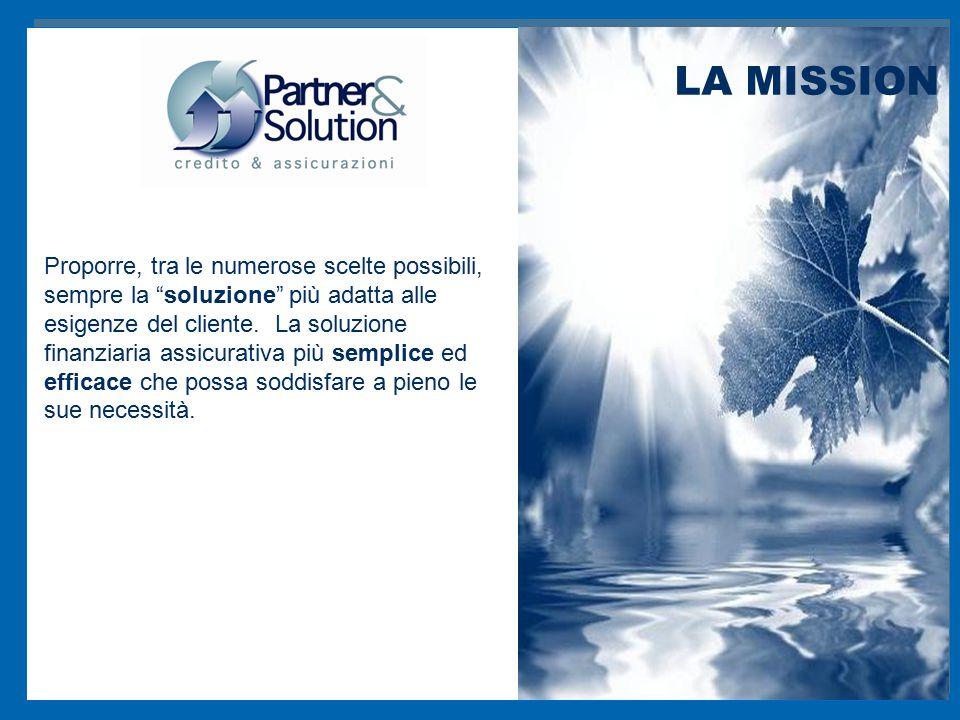 """Proporre, tra le numerose scelte possibili, sempre la """"soluzione"""" più adatta alle esigenze del cliente. La soluzione finanziaria assicurativa più semp"""