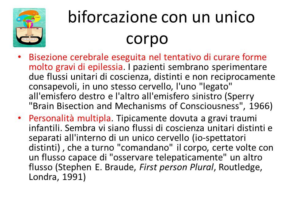 biforcazione con un unico corpo Bisezione cerebrale eseguita nel tentativo di curare forme molto gravi di epilessia.