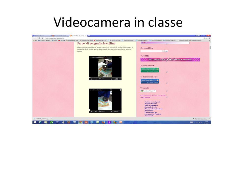 Con l'aiuto della videocamera si realizzano in classe filmati per stimolare una sana competizione.Sono pubblicati su youtube ai seguenti link le colline sedimentarie https://www.youtube.com/watch?v=IcbN-DRmlE0 Le colline vulcaniche https://www.youtube.com/watch?v=3slO_vzHRf8 Le colline moreniche https://www.youtube.com/watch?v=iAYf1Thg80Q