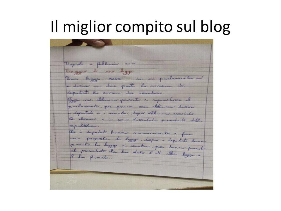 Il miglior compito sul blog