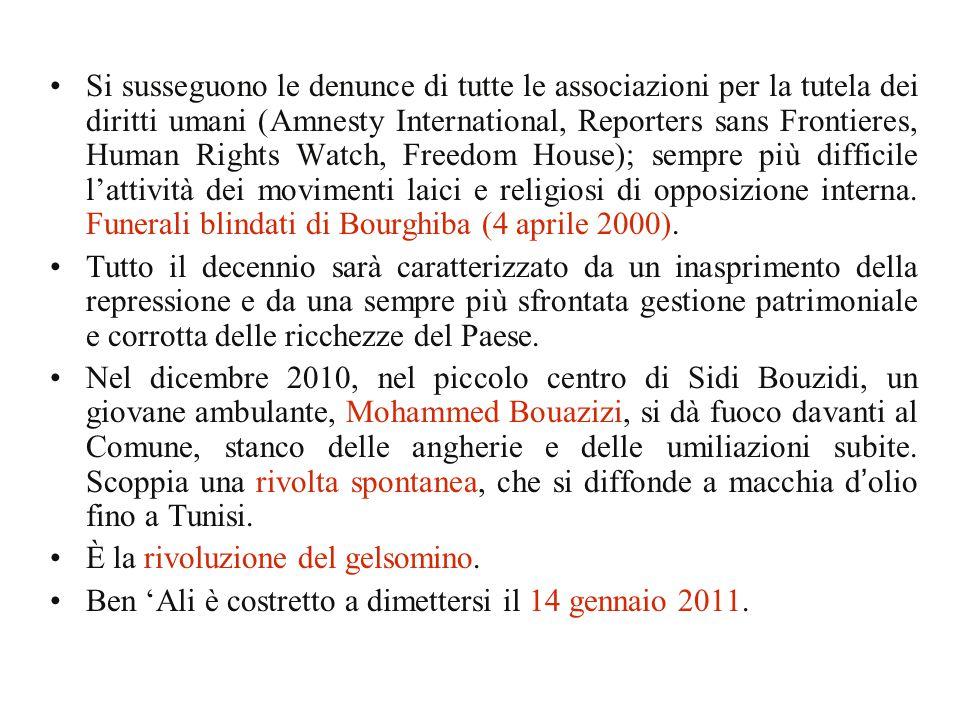 Si susseguono le denunce di tutte le associazioni per la tutela dei diritti umani (Amnesty International, Reporters sans Frontieres, Human Rights Watc