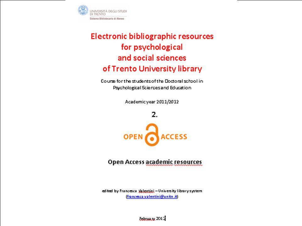 7th February 2012SBA. Ufficio Anagrafe della ricerca, Archivi istituzionali e supporto editoriale 1
