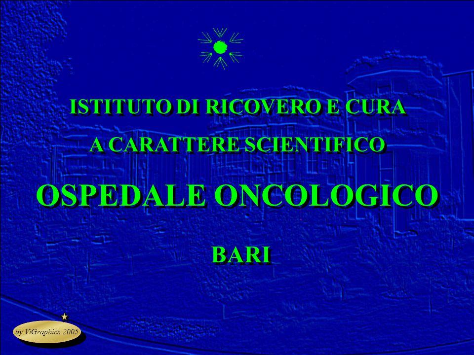 by ViGraphics 2005 ISTITUTO DI RICOVERO E CURA A CARATTERE SCIENTIFICO OSPEDALE ONCOLOGICO BARI ISTITUTO DI RICOVERO E CURA A CARATTERE SCIENTIFICO OS