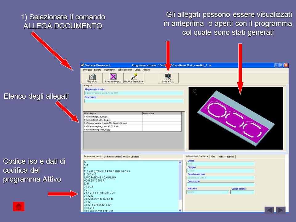 Gli allegati possono essere visualizzati in anteprima o aperti con il programma col quale sono stati generati Gli allegati possono essere visualizzati